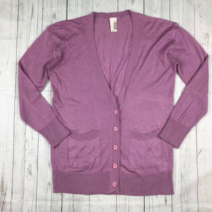 Francesca 3/4 sleeve button down cardigan sweater